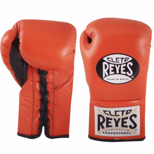 Cleto Reyes Traditional Contest Boxing Gloves - Tiger Orange